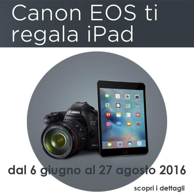 Canon ti regala Ipad - promozione giugno 2016 (home)