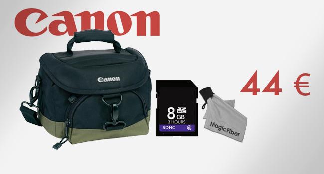 Borsa originale Canon 100 EG  + SD da 8 Gb + panno speciale in