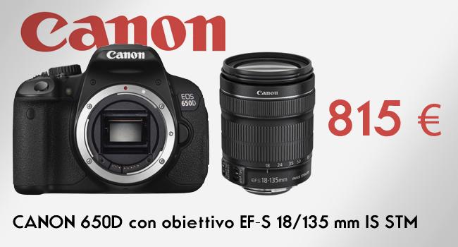 Canon 650d con 18 135