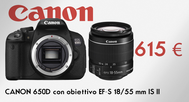 Canon 650d con 18 55 IS