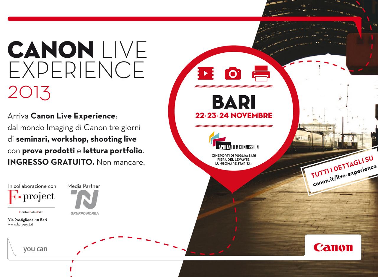 Canon Live Experience 2013 BARI F.project