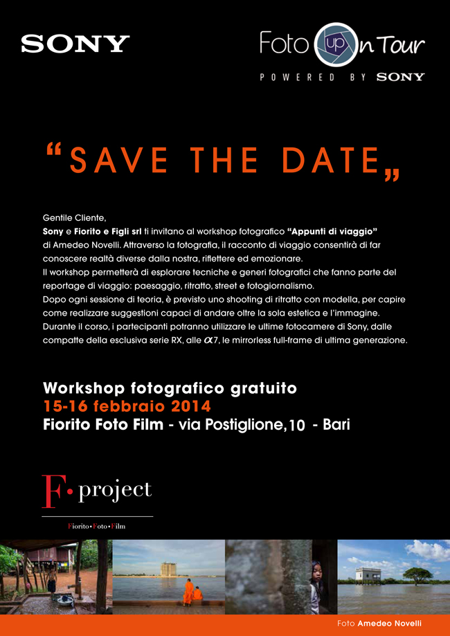 SONY - Save The Date F.project Bari Flyer 72