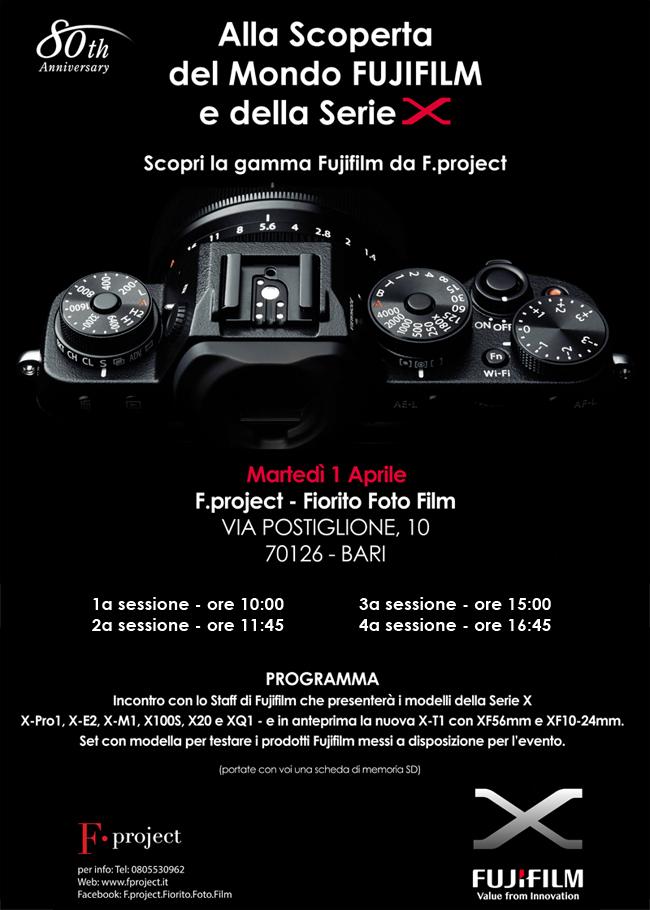 Fujifilm day aprile 2014 Bari Presentazione serie X