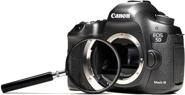 Pulizia sensore fotocamera Bari Puglia