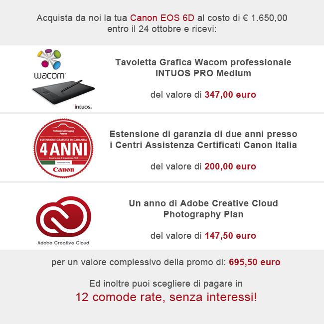 Canon Eos 6d Promozione prezzo Bari Puglia 650 pixel