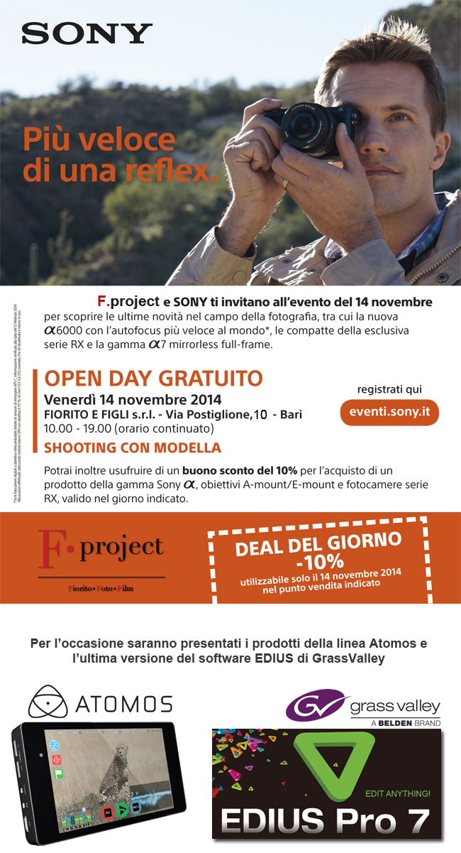 SONY OPEN DAY 14 novembre 2014 a Bari copia