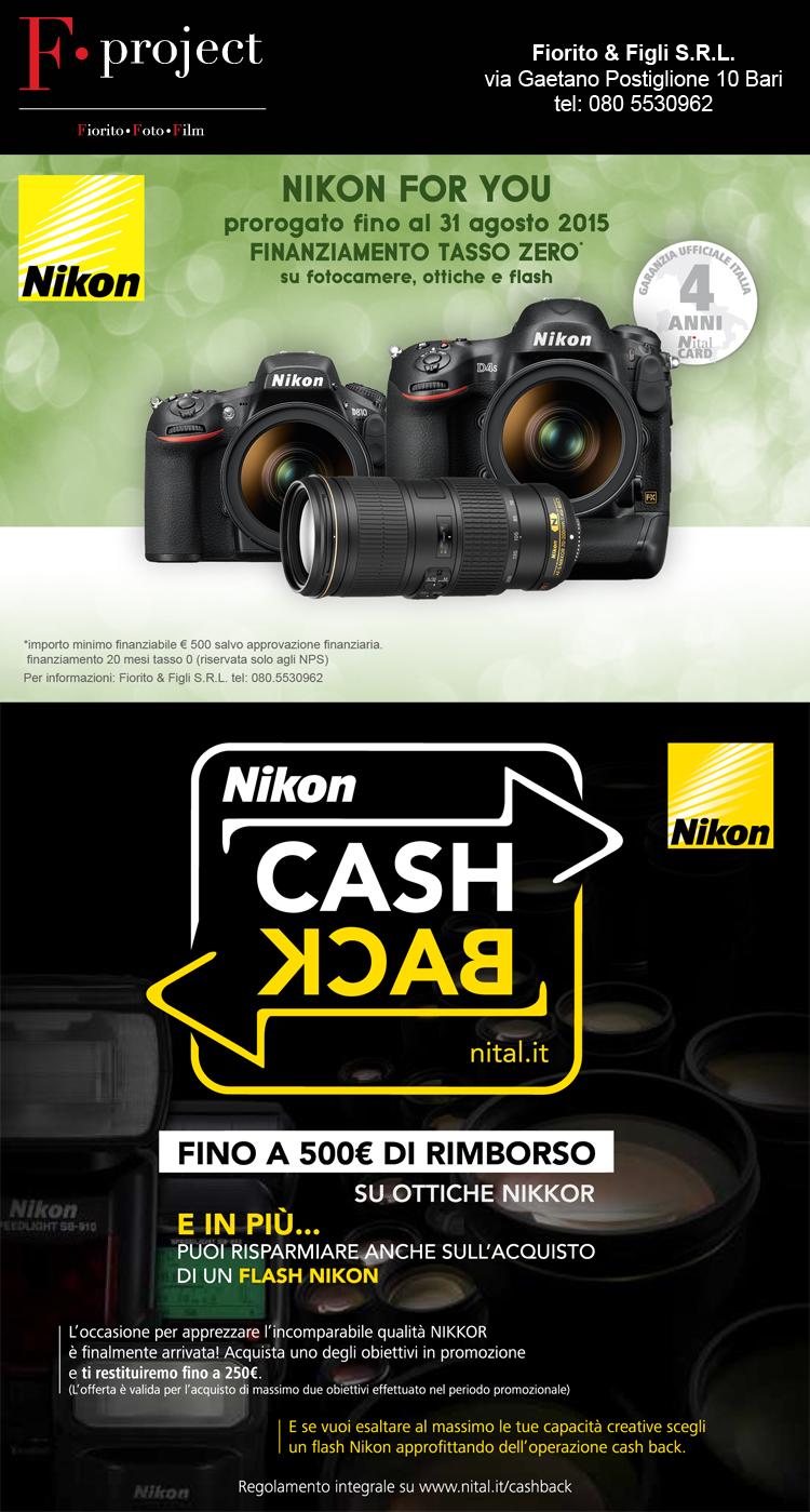 NIKON - Finanziamento + Cashback