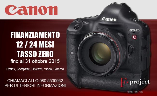 Canon finanziamento Tasso Zero 31 ottobre 2015