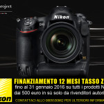 Nikon: finanziamento 12 mesi tasso zero dal 22 settembre 2015
