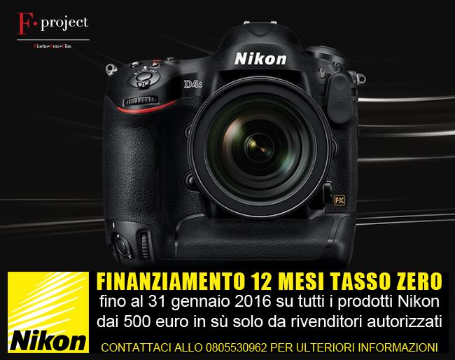 Finanziamento Nikon 12 mesi tasso zero 2015