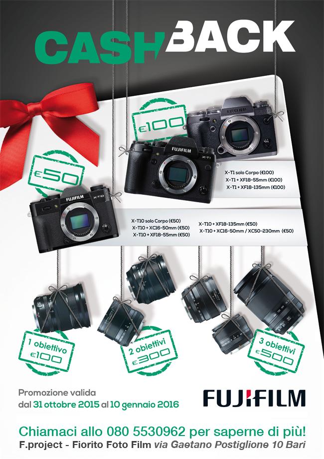 Fuji cashback rimborso Bari fino al 10 gennaio 2016