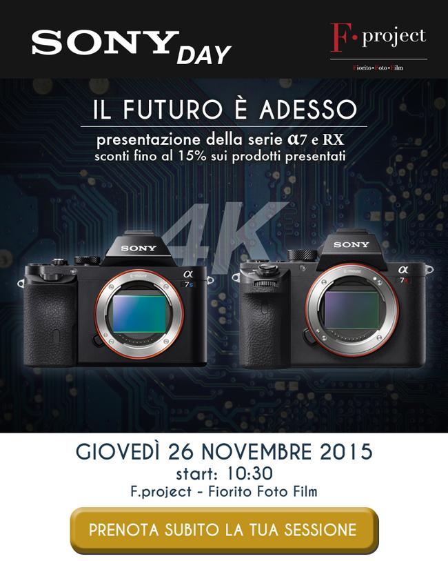 Sony DAY 26 novembre - prenota la tua sessione
