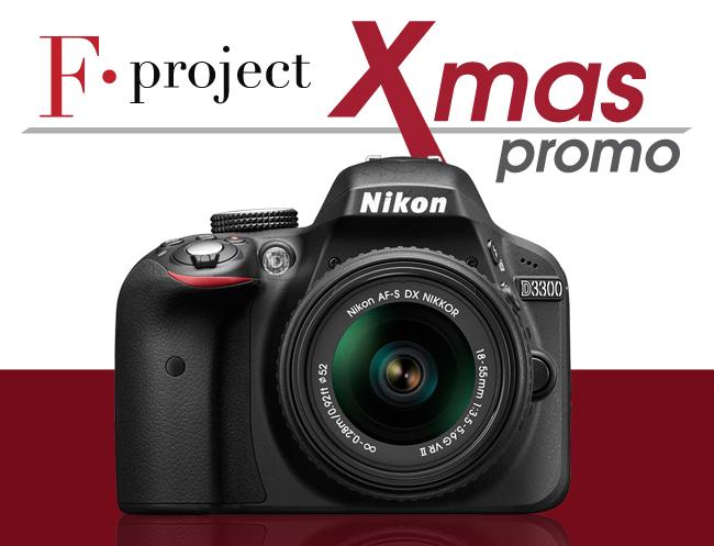 Xmas promo Nikon D3300 + corso di fotografia