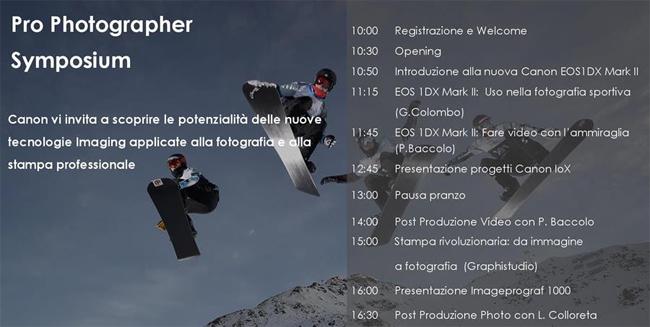 Canon Symposium Bari - Programma