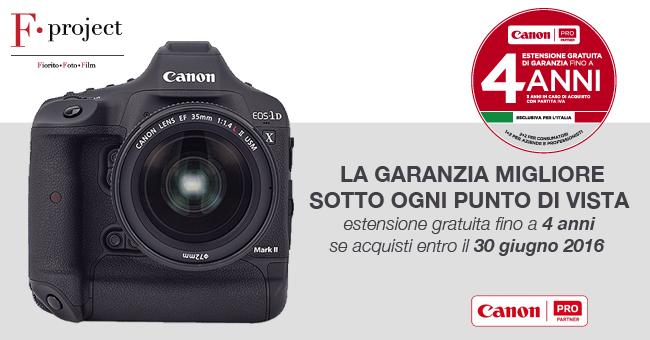 Canon garanzia 4 anni - F.project 650px