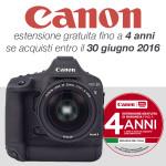 Canon 4 anni di garanzia gratuita fino al 30 giugno