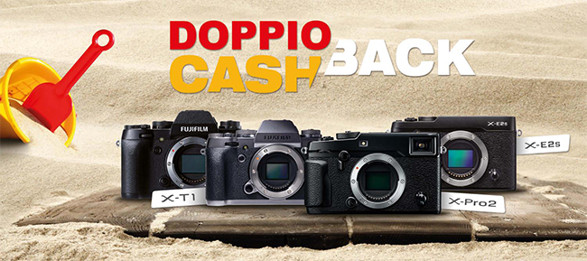 Fujifilm doppio cashback 2016
