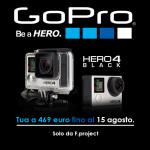 Extra sconto su GoPro Hero 4 black fino al 15 agosto!