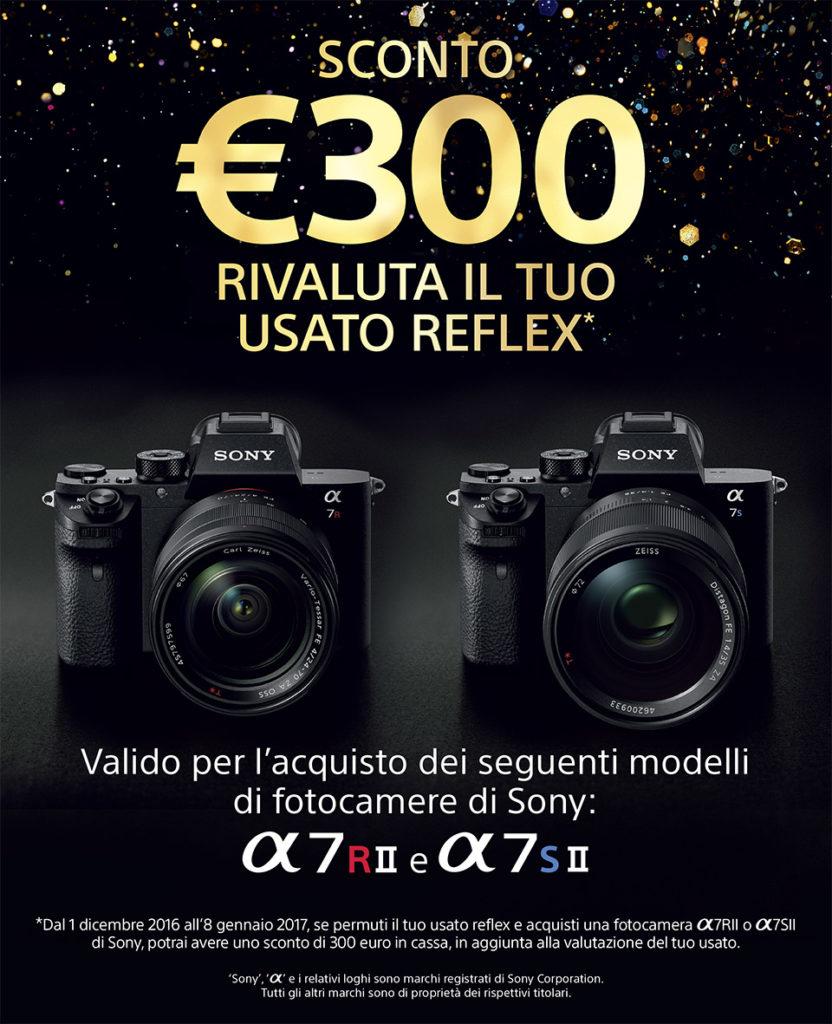 SONY rivalutazione usato reflex con cashback di 300 euro