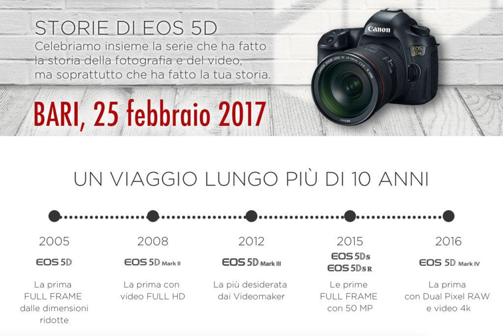 Bari Canon Storie di EOS 5 TOUR