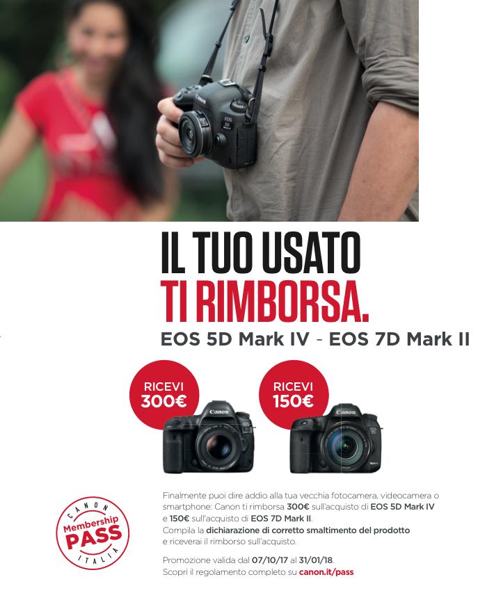 Rimborso Canon EOS 5D Mark IV - EOS 7D Mark II gennaio 2018 Bari Puglia