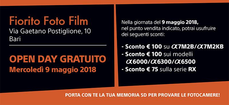 Fiorito Foto Film Sony open day 9 maggio 2018 Bari 02