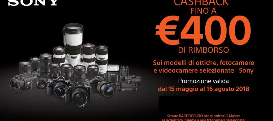 Sony cashback fotocamere ottiche rivenditore negozio 2018