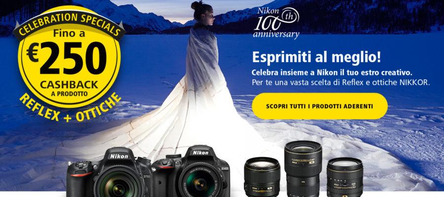Nikon Cashback fino a 250 euro ottobre 2017